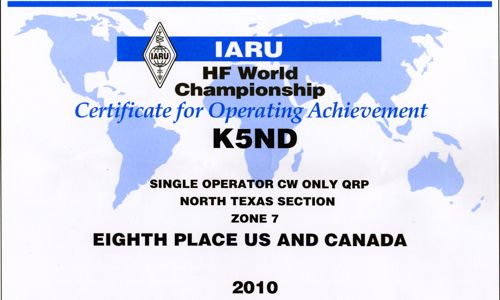 K5ND IARU 2010001 - Version 2