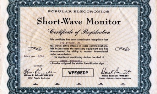 Short Wave Monitor Cert001
