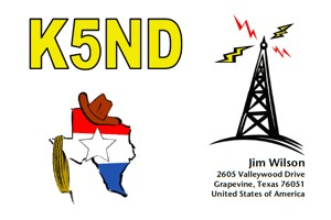 My very first effort at a QSL card
