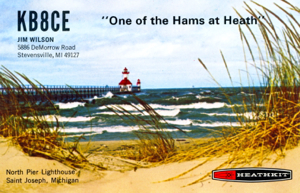 One of my first QSL cards courtesy of my employer at the time.