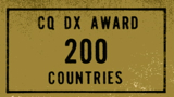 CQ DX Award 200